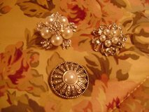 Bridal Gown Pearl & Rhinestone Brooches (Round One Is Sold) in Houston, Texas